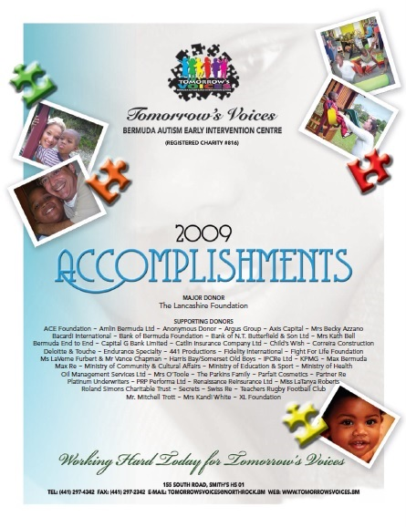 2009 Accomplishments Cover
