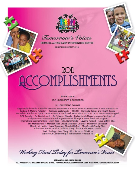 2011 Accomplishments Cover
