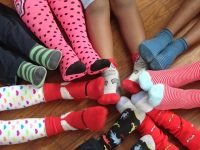 Paget Primary School Celebrates Autism Rocks Socks - April 2014