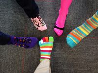 Novartis Celebrates Autism Rocks Socks - April 2014