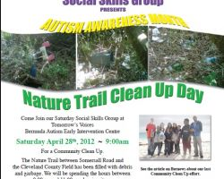 Social Skils Group Nature Trail Clean Up April 2012