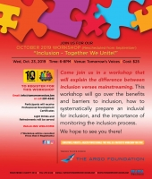 October Workshop - Inclusion: Together We Unite!